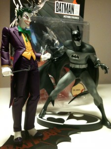 FanExpo 2011 Joker and Batman action figures