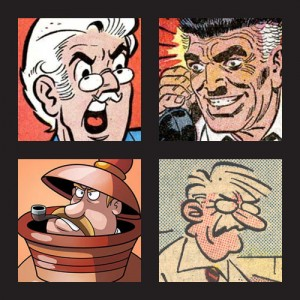 Hiram Lodge, J. Jonah Jameson, Mr. Dithers, Chief Quimby